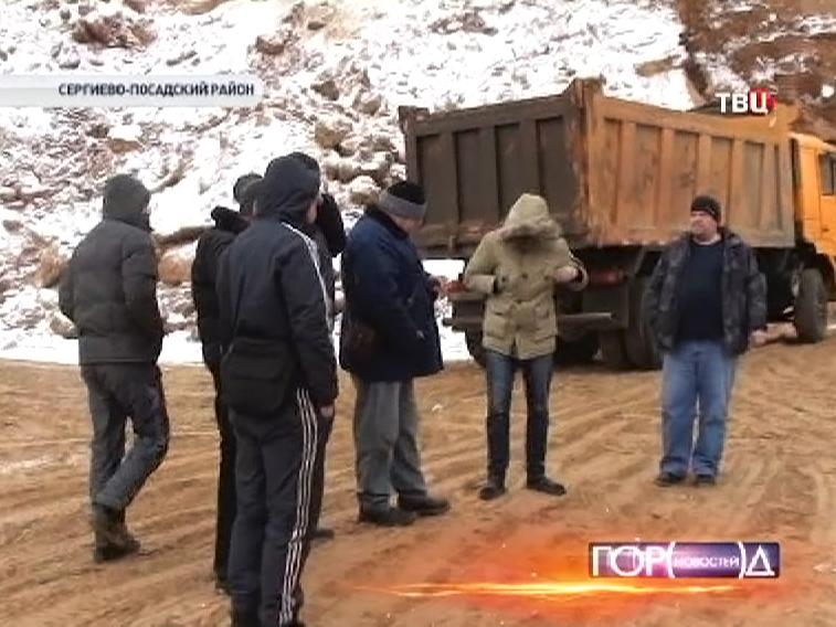 Задержанные строители в Сергиево-Посадском районе