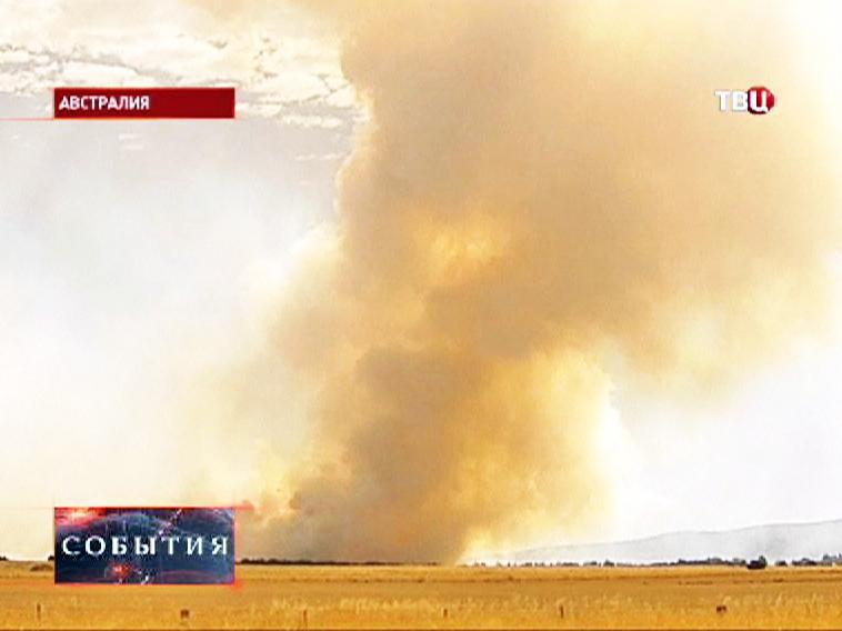 Облако дыма от пожара