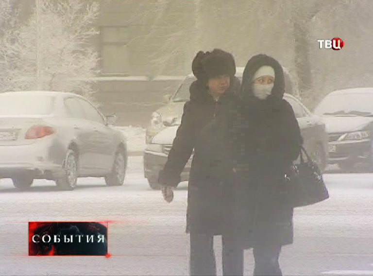 Сильные морозы на Урале