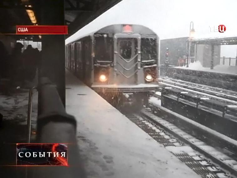 На США обрушился сильный снегопад