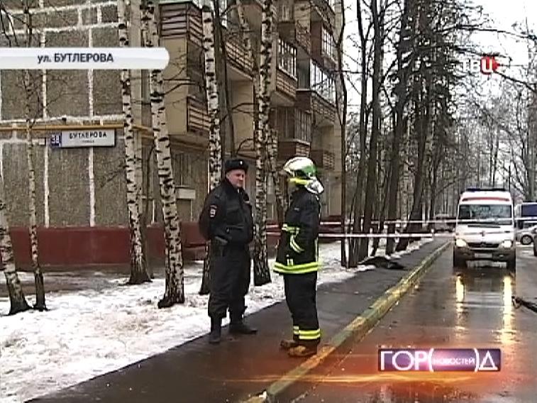 Оперативные службы оцепили место происшествия на улице Бутлерова
