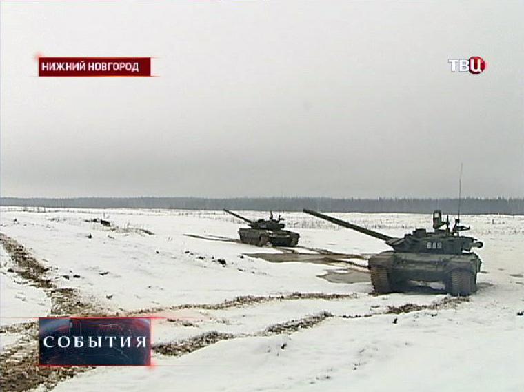 Танковый полигон в Нижнем Новгороде