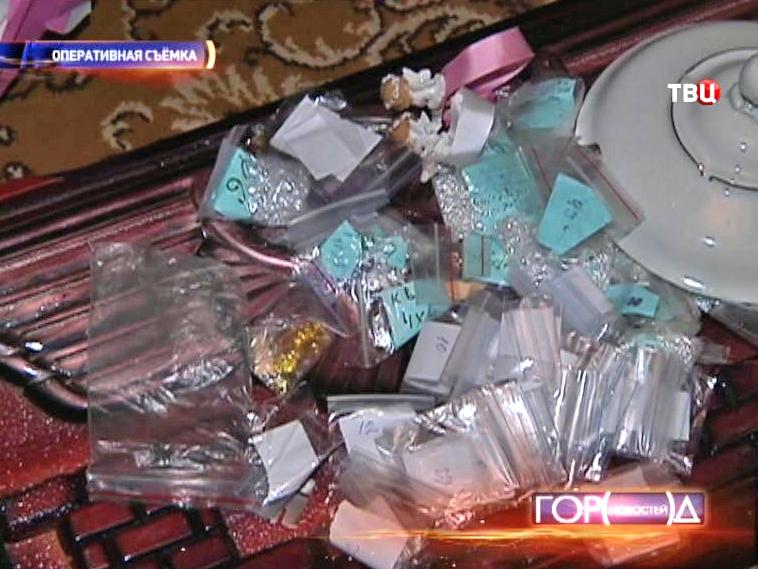Изъятые украденные украшения