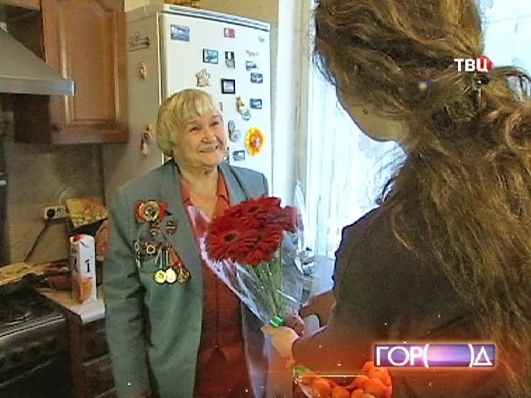 Поздравление ветеран Великой Отечественной войны Галина Брок-Бельцова