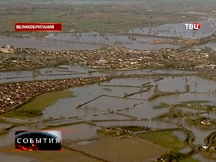 Затопленные районы Великобритании