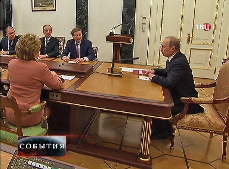 Владимир Путин на совещании Совета безопасности России