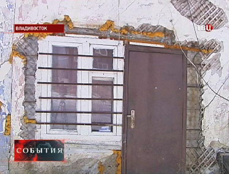 Аварийный дом во Владивостоке