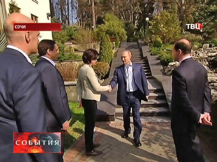 Владимир Путин на встрече с журналистами