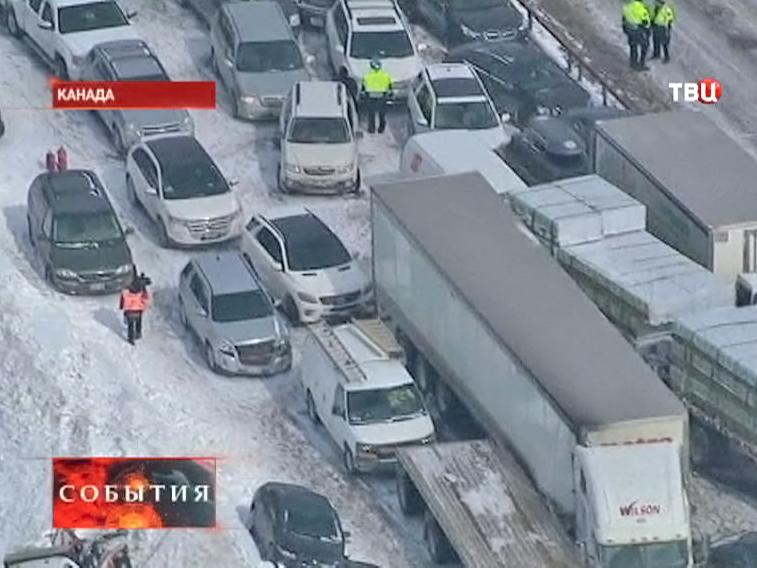 Авария в Канаде