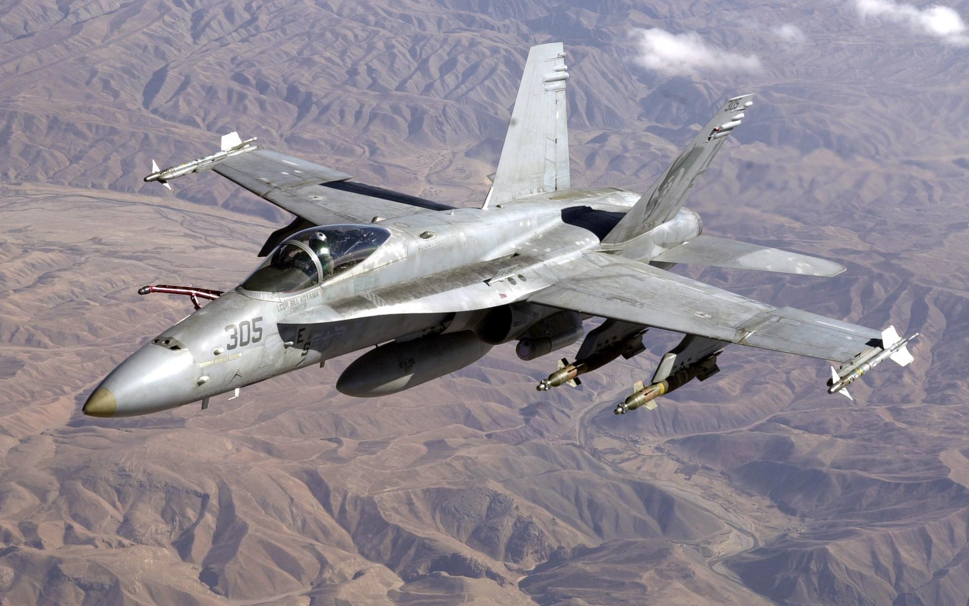 Американский истребитель F/A-18C Hornet
