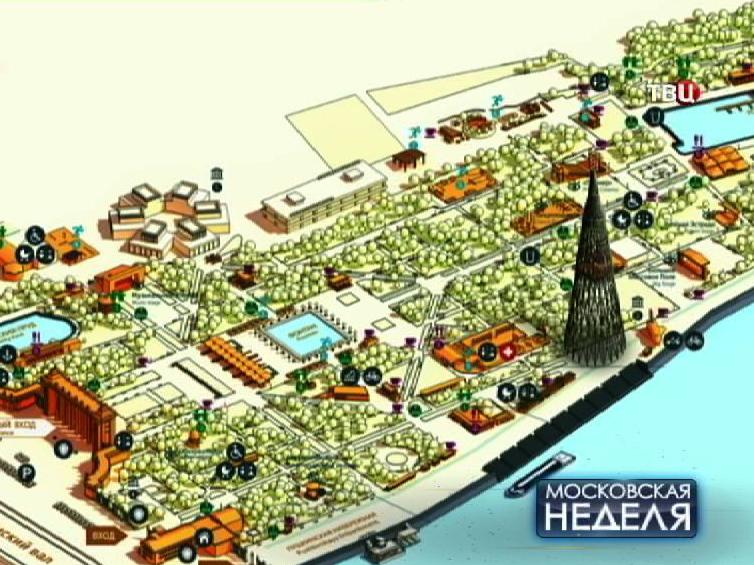 Проект переноса Шуховской башни в Парк Горького
