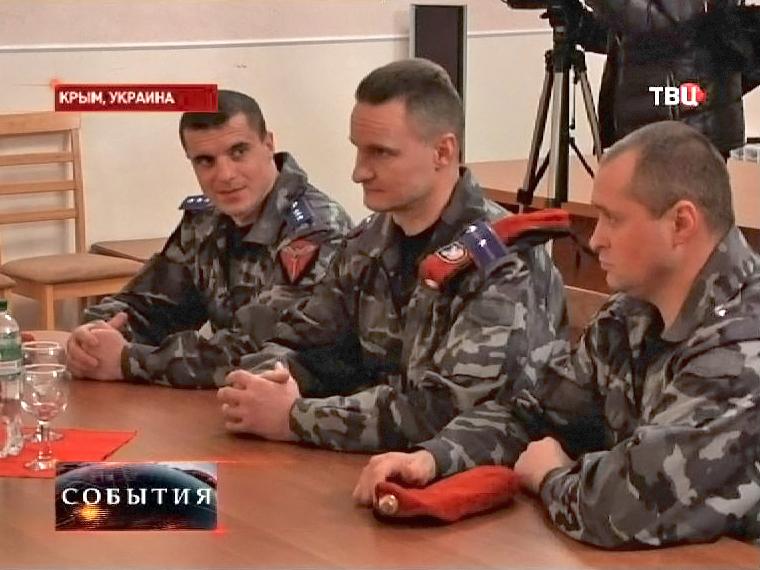 """Сотрудники """"Беркута"""" в Крыму"""