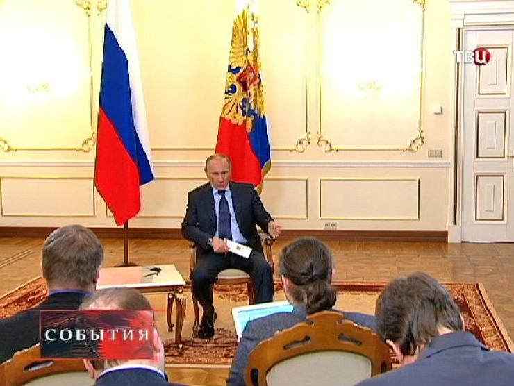 Владимир Путин проводит пресс-конференцию