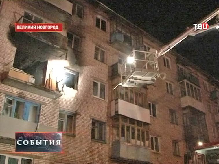 Пожар в жилом доме в Великом Новгороде