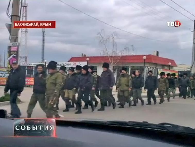 Отряд казаков Крыму