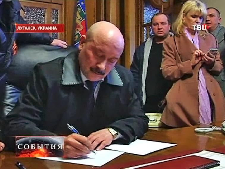 Губернатор Луганской области Михаила Болотских подал в отставку