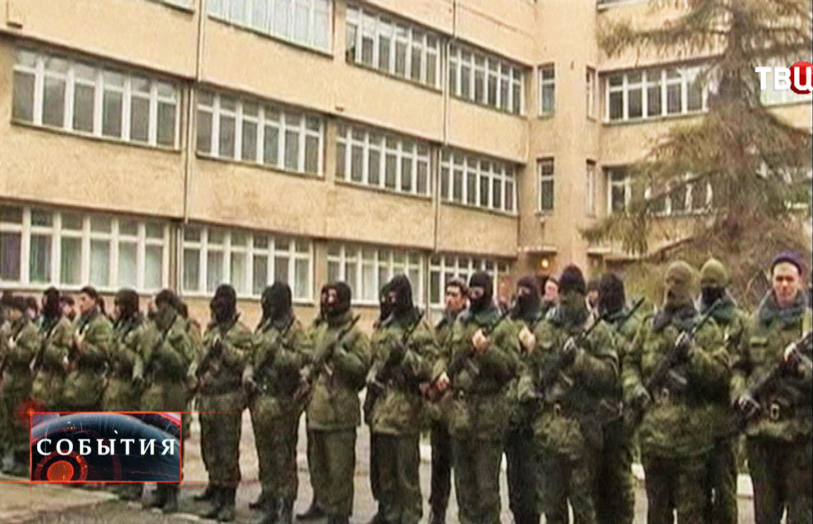 Военнослужащие сил самообороны Крыма
