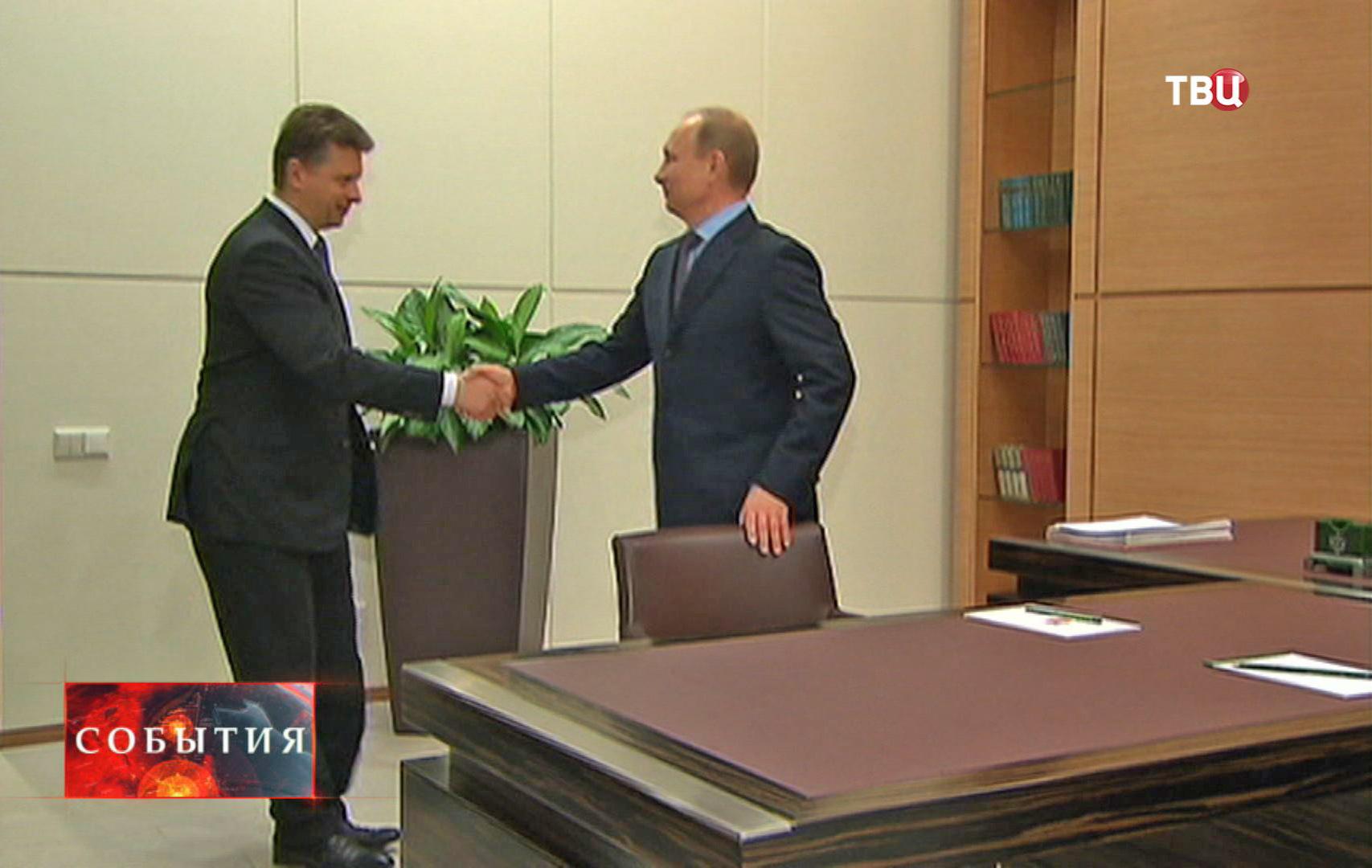 Встреча Владимира Путина с министром транспорта Максимом Соколовым