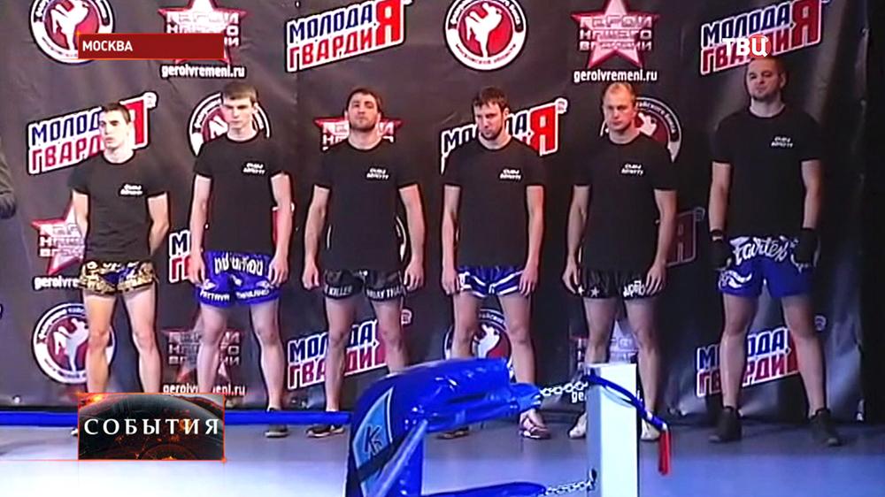 Участники турнира по тай-боксу