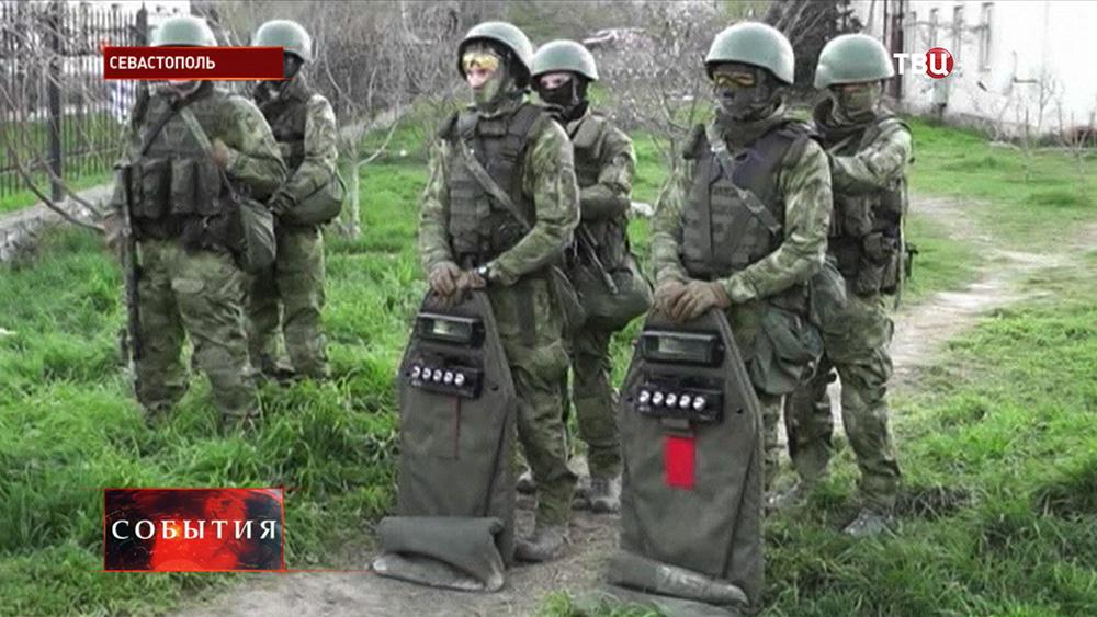 Военнослужащие в Севастополе