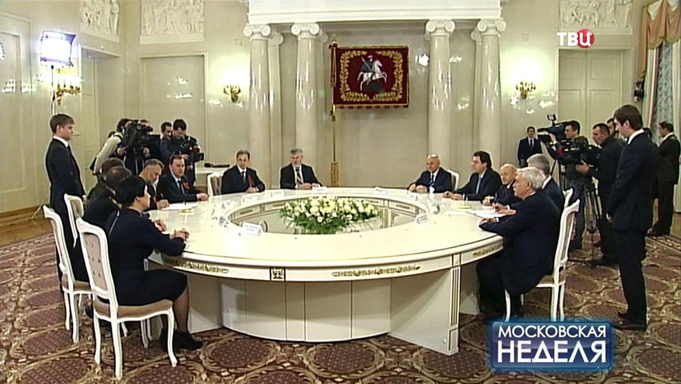Встреча делегации из Крыма и Севастополя с членами Московского правительства