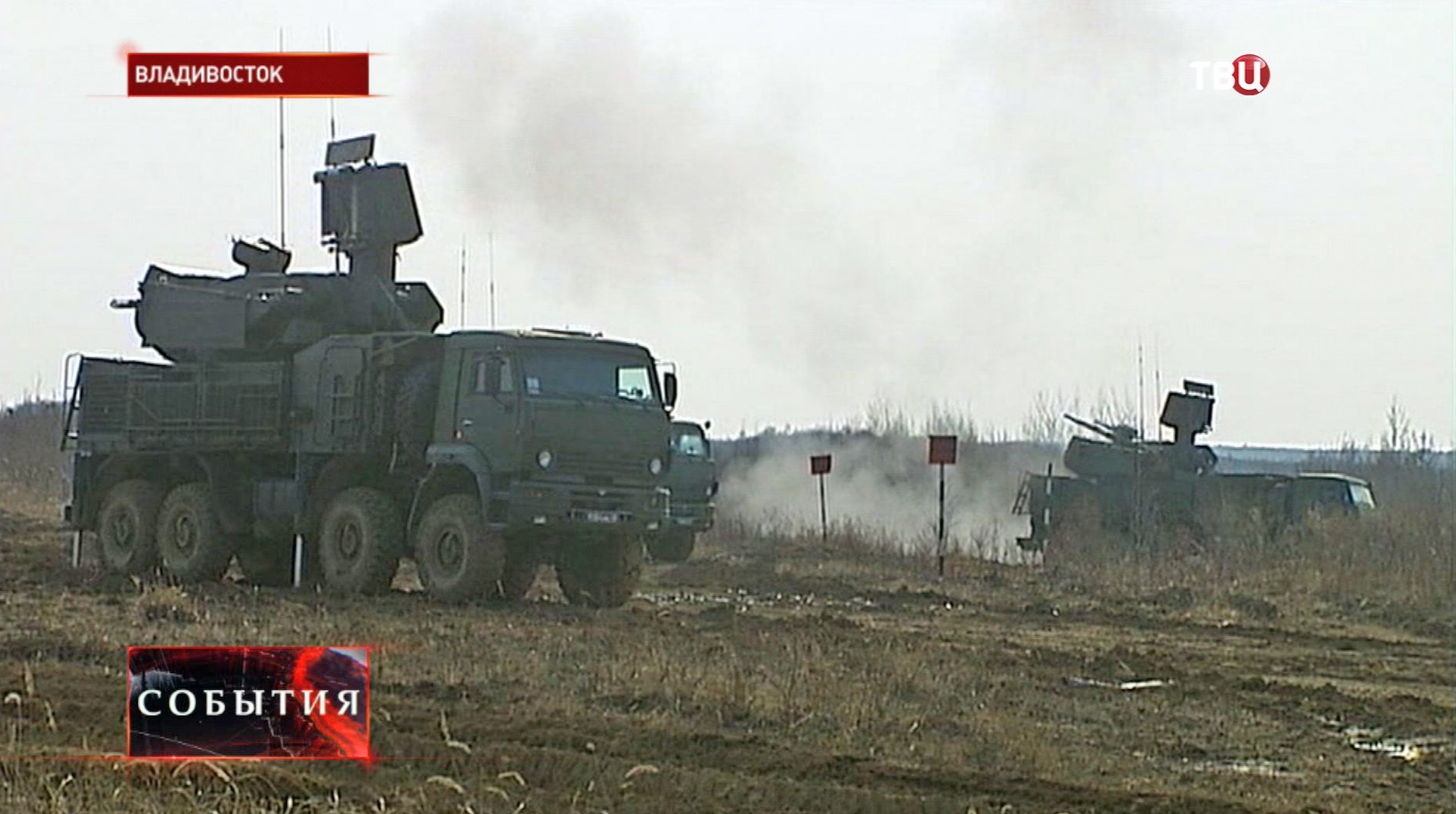 """Комплексы ПВО """"Панцирь-С"""" на позиции"""