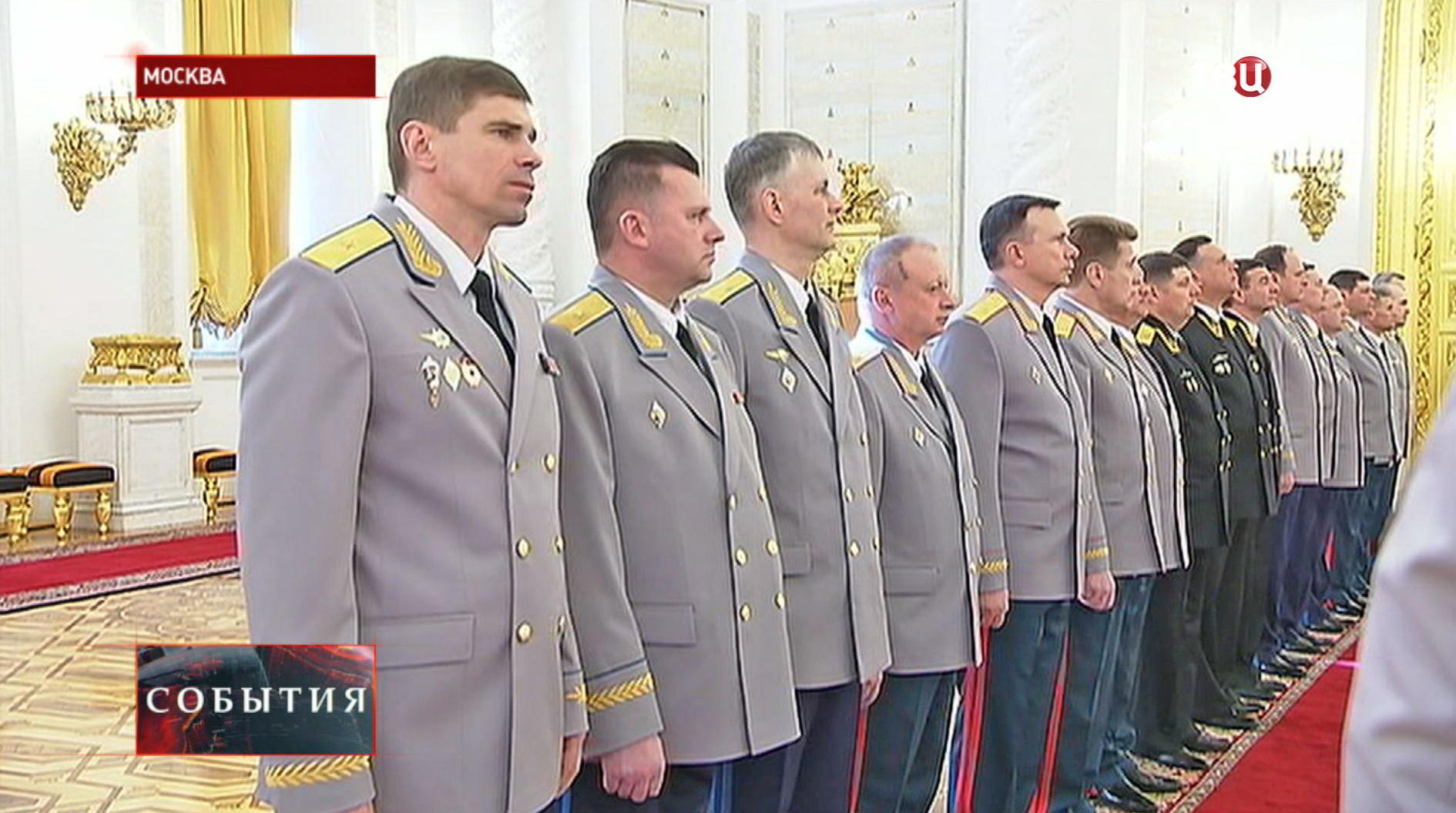 Высшие офицеры на встрече с Владимиром Путиным
