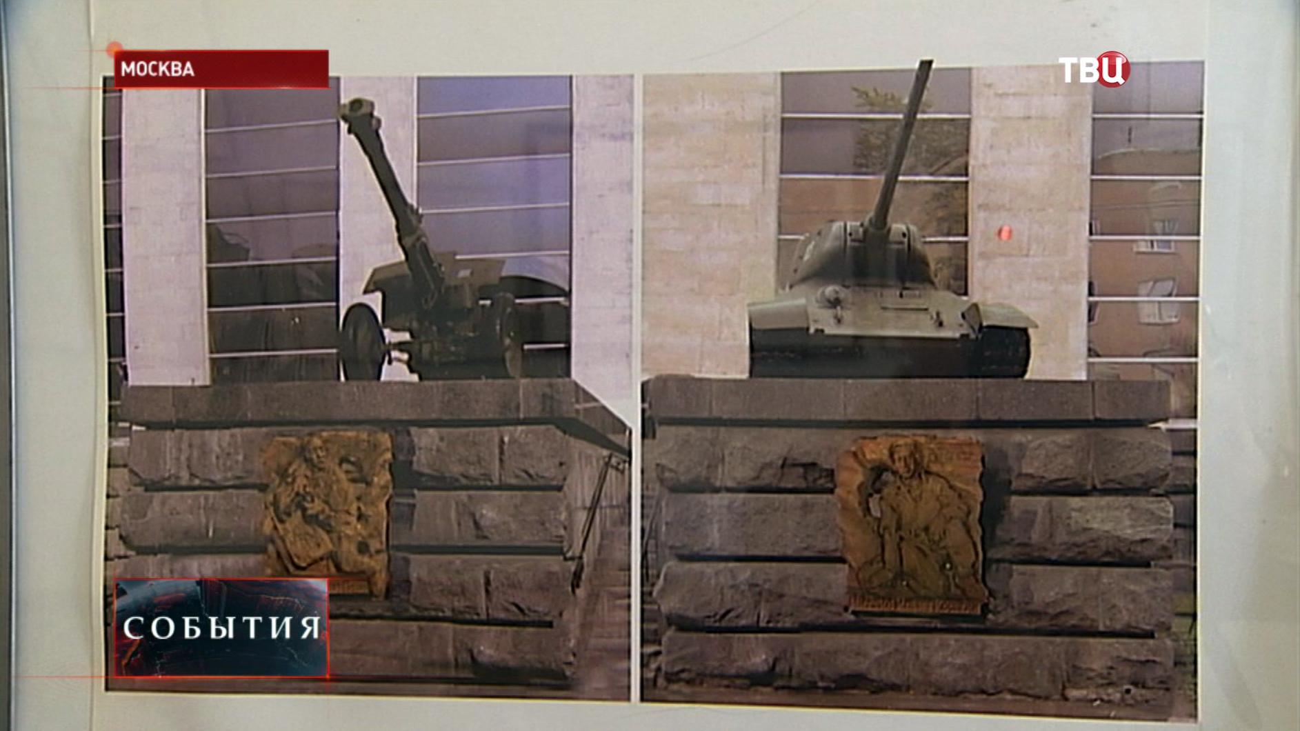 Военная техника у входа в Центральный музей Вооружённых Сил