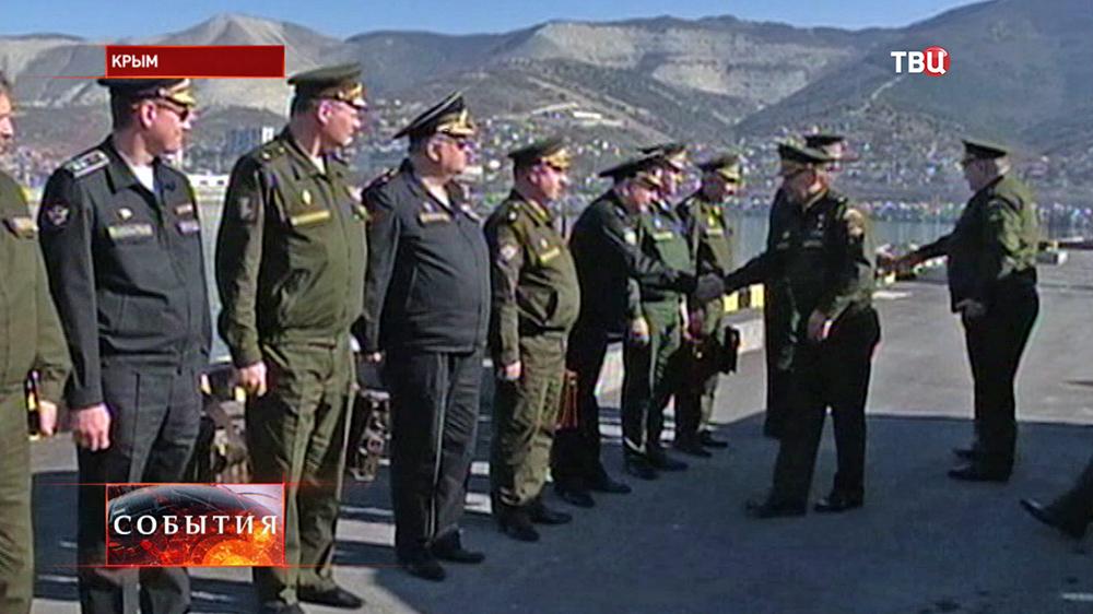 Министр обороны РФ Сергей Шойгу встретился с военными в Крыму