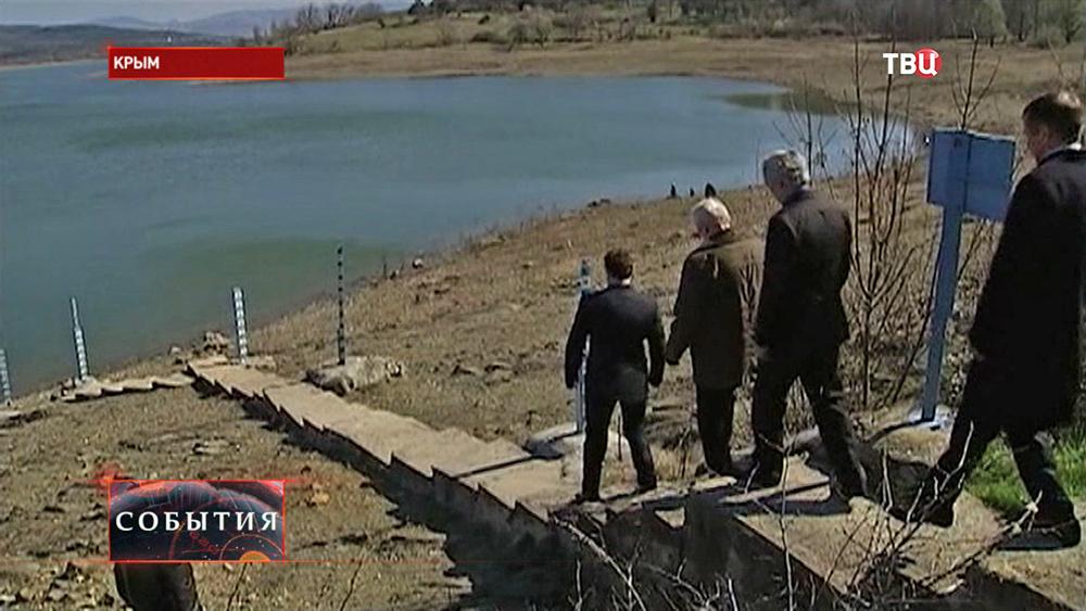 Комиссия осматривает Симферопольское водохранилище