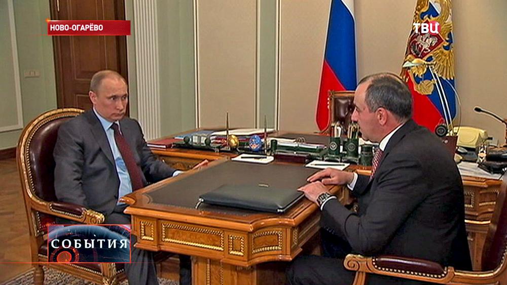 Президент России Владимир Путин и глава Карачаево-Черкессии Рашид Темрезов
