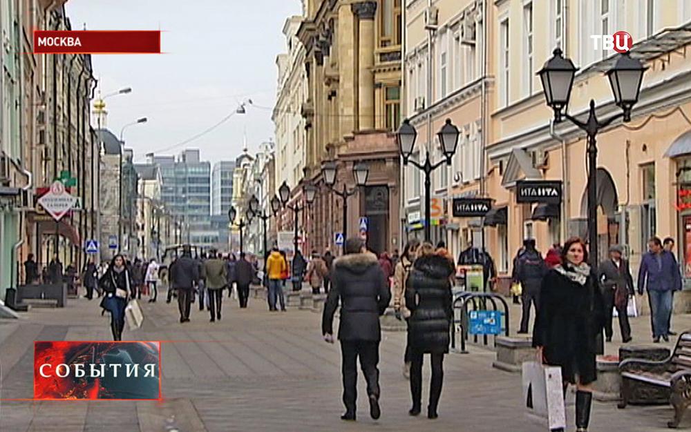Пешеходная зона на улице Рождественка
