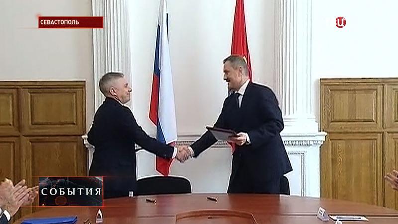 Двустороннее подписание совещаний в рамках рабочей поездки делегации Госдумы РФ в Крым