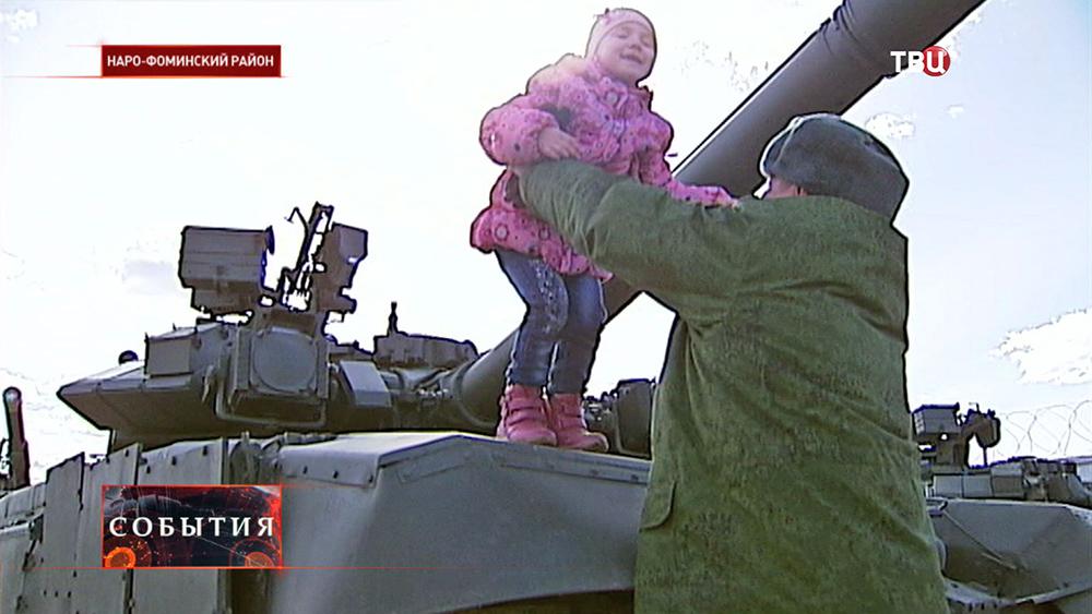 К военнослужащим приехали родные