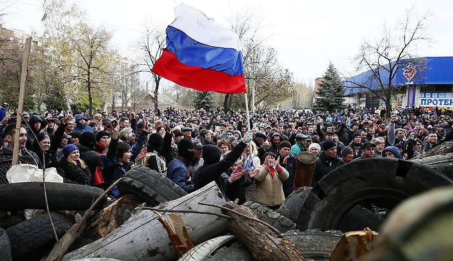 Протестующие в Славянске