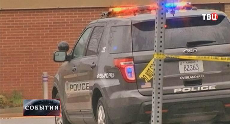 Полиция на месте стрельбы