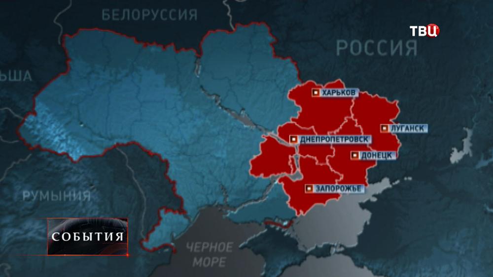 Карта народных протестов на Украине
