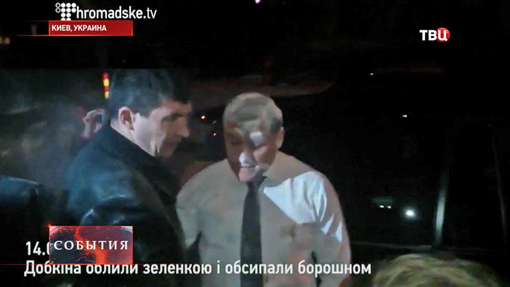 Нападение на кандидата в президенты Украины Михаила Добкина