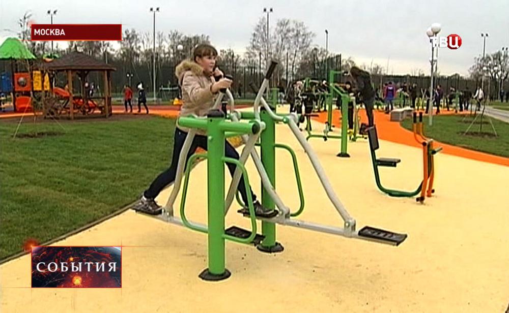 Тренажёры на детской площадке