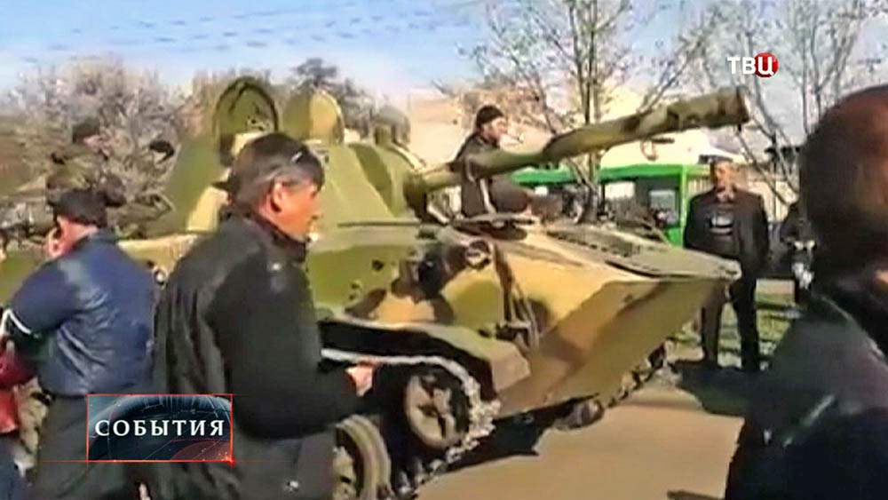 Ополченцы в Краматорске остановили военную технику