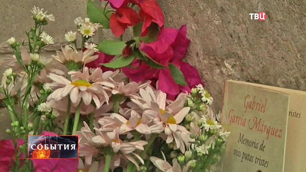 Цветы у дома писателя Габриэля Гарсиа Маркеса