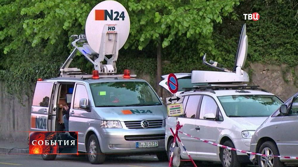 машина немецкого телеканала N24