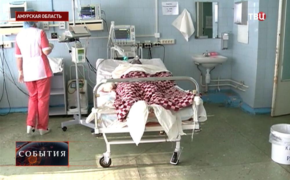 Пострадавший в больнице в Амурской области