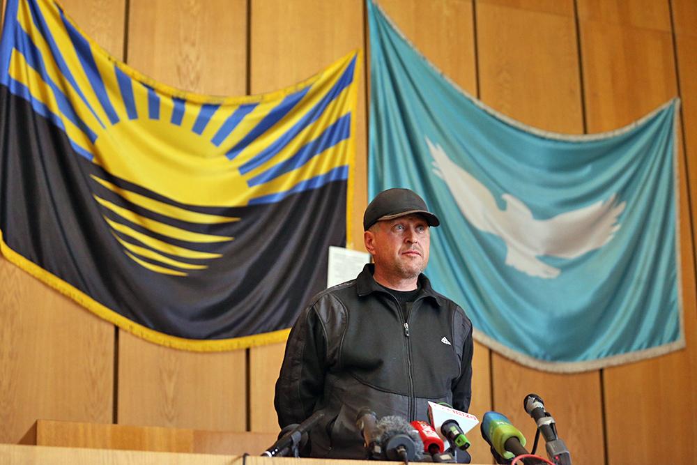 Провозглашенный мэр Славянска Вячеслав Пономарев