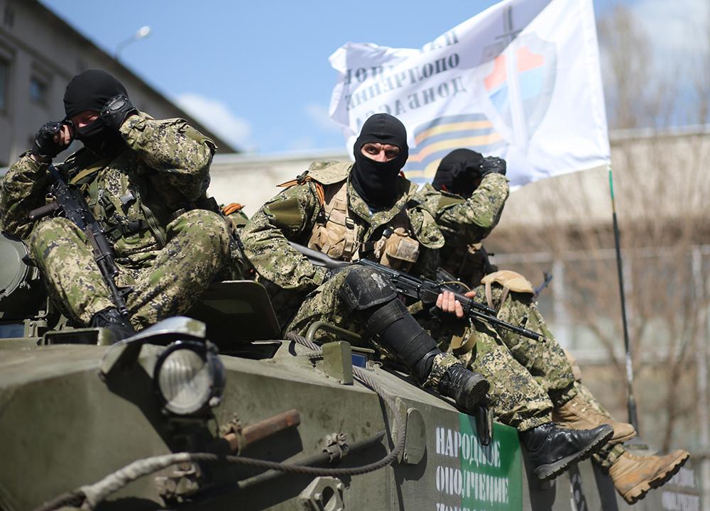 Представитель самообороны в Славянске