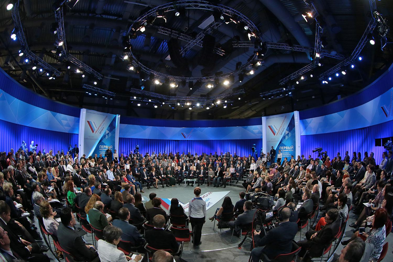 Во время пленарного заседания Медиафорума независимых региональных и местных СМИ