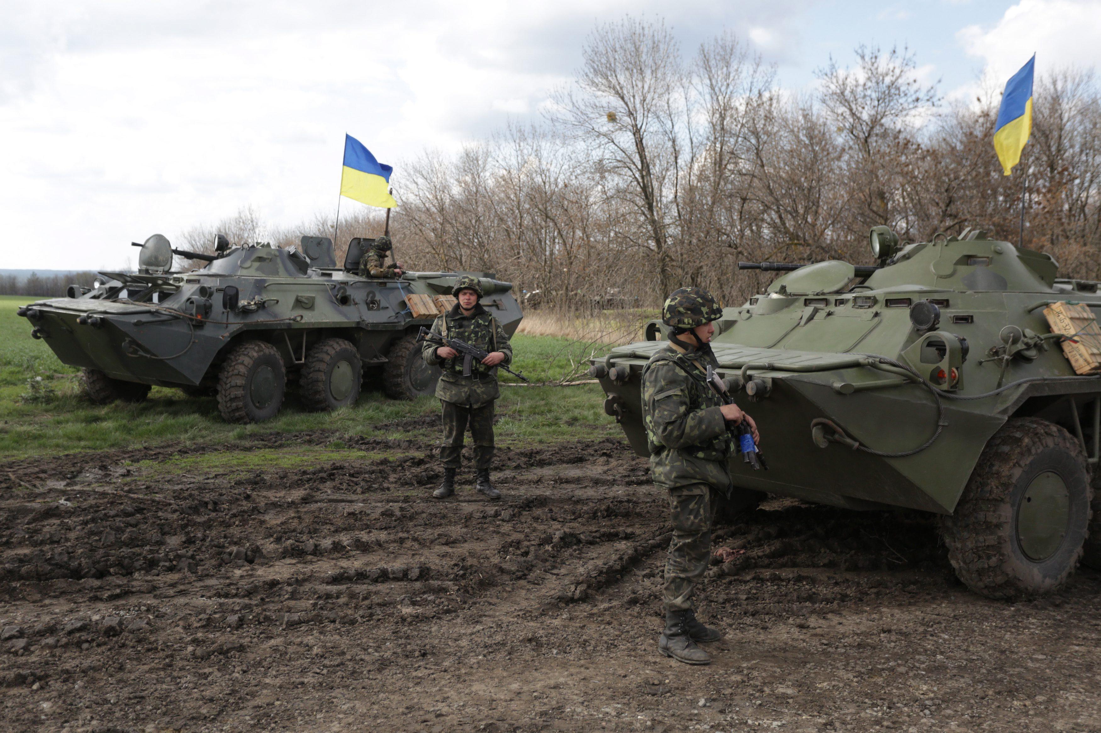 Украинские войска под Славянском