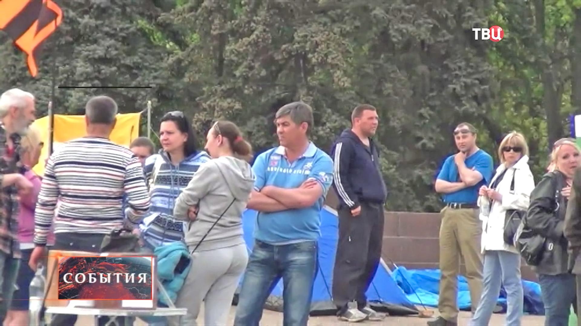 В центре Харькова разбили палаточный городок
