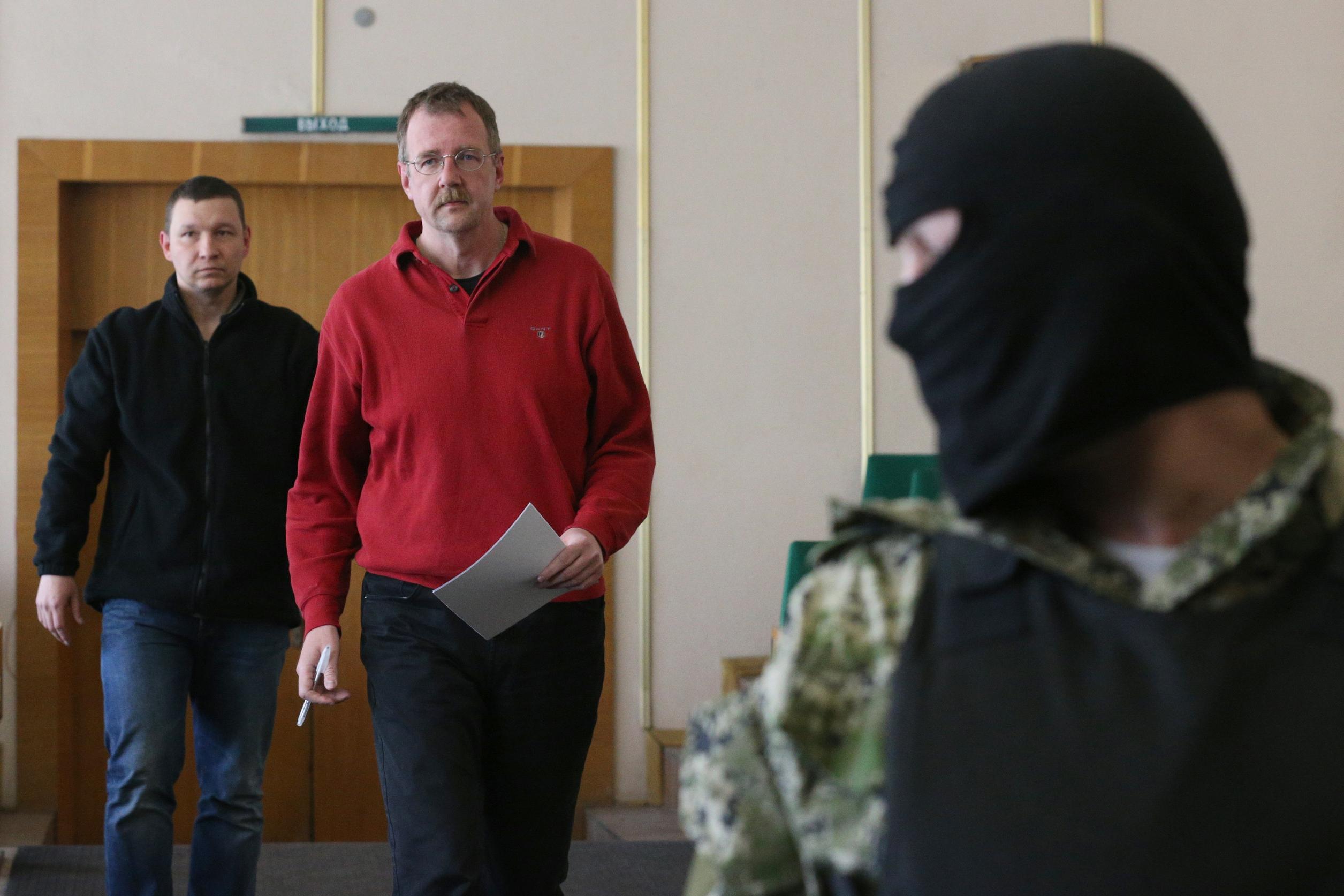 Члены делегации военных наблюдателей ОБСЕ
