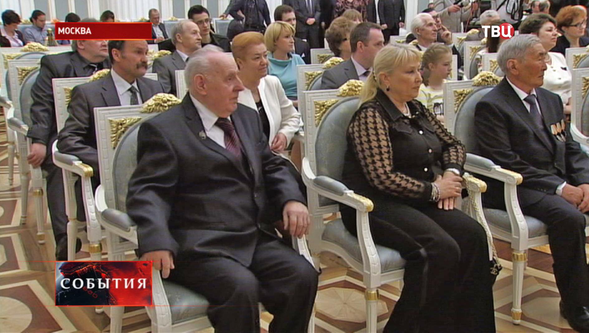 Церемония награждения Героев труда в Кремле